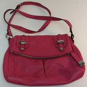 B. Makowsky Pink Leather Crossbody Handbag